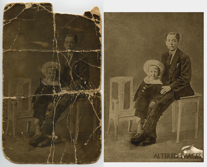 Photograph Restoration of Father and son