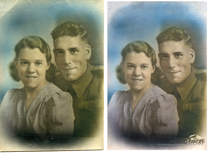WW1 photograph of young married couple