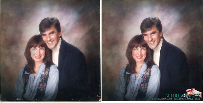 Photo Restoration of young couple.